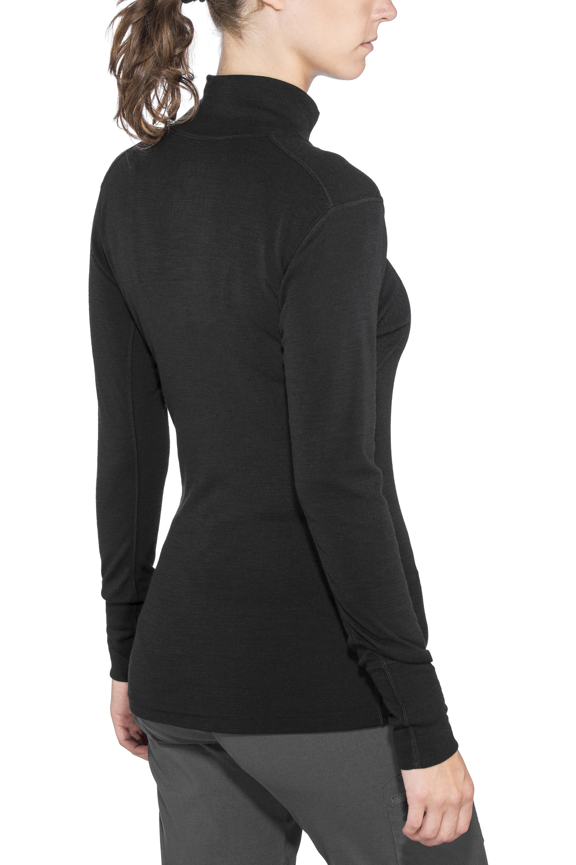 a21d5f1d26dcc Devold Hiking T-shirt manches longues col montant avec demi-zip Femme, black